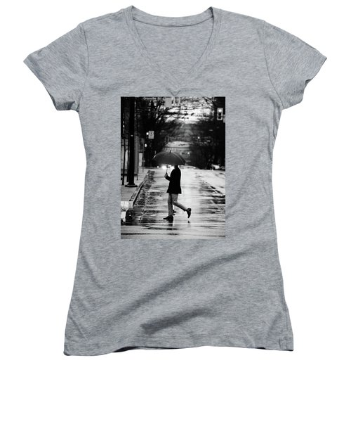Women's V-Neck T-Shirt (Junior Cut) featuring the photograph The One Chance I Found  by Empty Wall