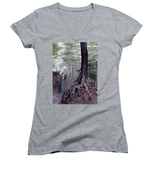 The One-eyed Wanderer Women's V-Neck (Athletic Fit)
