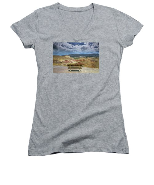 The Overlook At Painted Hills In Oregon Women's V-Neck T-Shirt