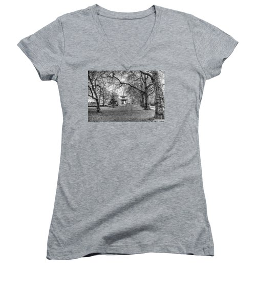 The Pagoda Battersea Park London Women's V-Neck (Athletic Fit)