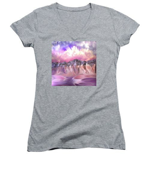The Painted Sand Rocks Women's V-Neck (Athletic Fit)