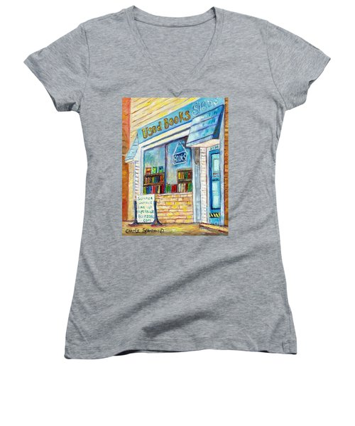 The Paperbacks Plus Book Store St Paul Minnesota Women's V-Neck (Athletic Fit)