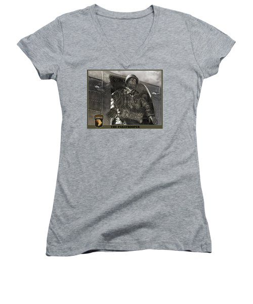 The Paratrooper Women's V-Neck T-Shirt