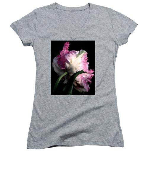 The Parrot Tulip Queen Of Spring Women's V-Neck