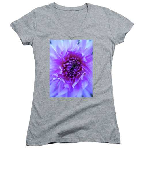 The Passionate Dahlia Women's V-Neck (Athletic Fit)