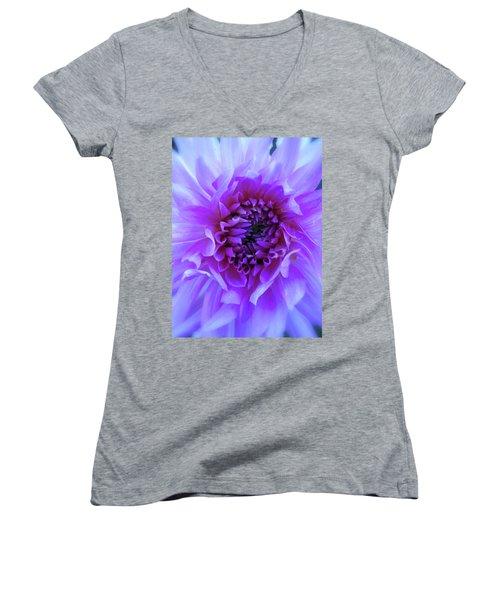 The Passionate Dahlia Women's V-Neck T-Shirt