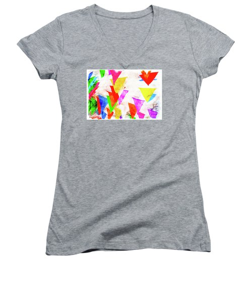 The Pennants At Mango Cafe Women's V-Neck (Athletic Fit)