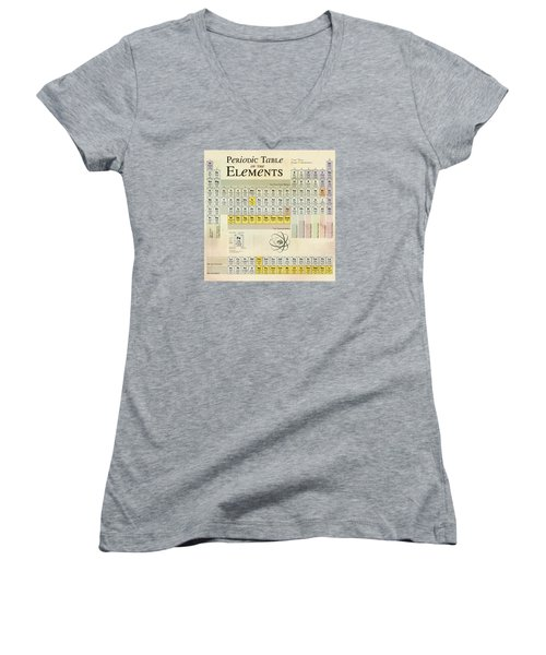 The Periodic Table Of The Elements Women's V-Neck T-Shirt (Junior Cut) by Gina Dsgn