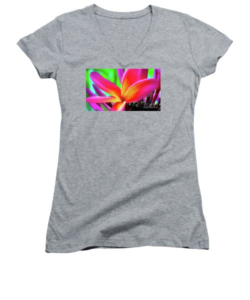 The Plumeria Flower Women's V-Neck