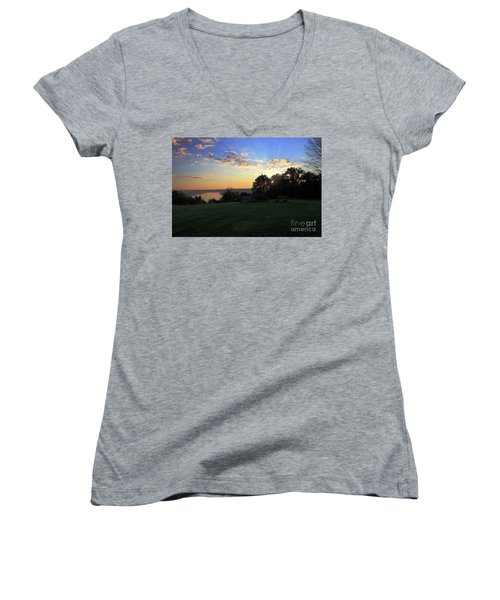 The Point At Sunrise Women's V-Neck (Athletic Fit)