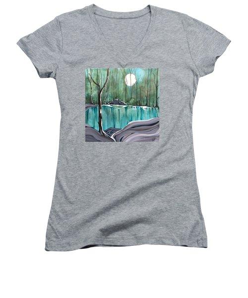 The Pond Women's V-Neck T-Shirt