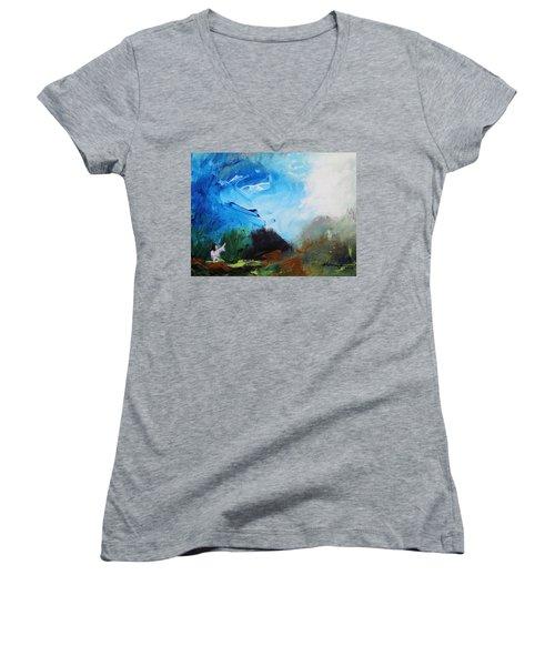 The Prayer In The Garden Women's V-Neck T-Shirt