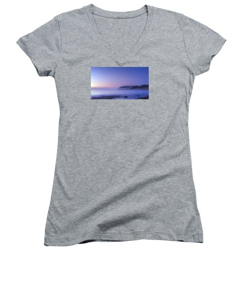 The Predawn Mist Women's V-Neck (Athletic Fit)