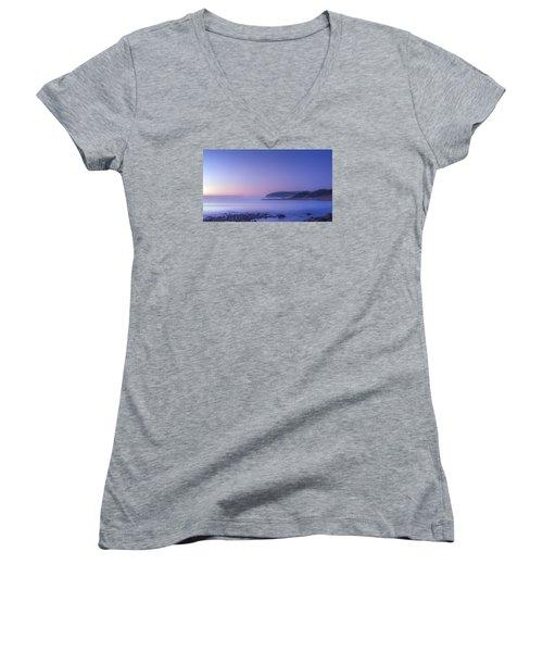 The Predawn Mist Women's V-Neck T-Shirt