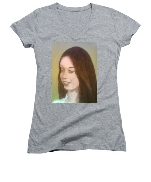 The Pretty Brunette Women's V-Neck T-Shirt