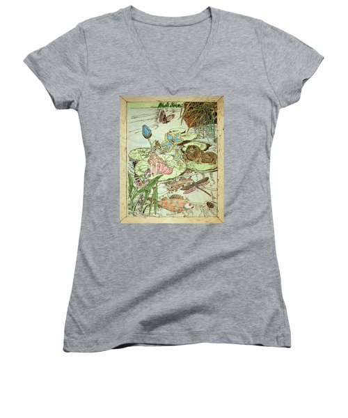 The Princess And The Frogs Women's V-Neck