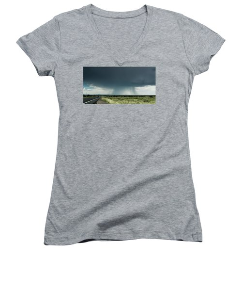 The Rain Storm Women's V-Neck T-Shirt