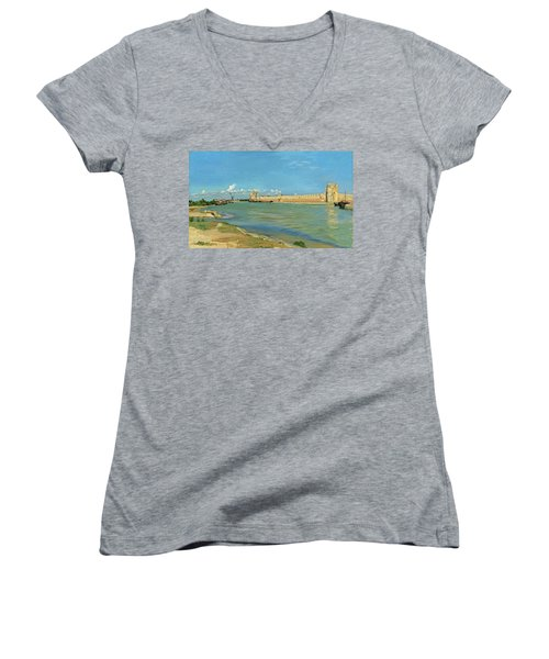The Ramparts At Aigues Mortes Women's V-Neck