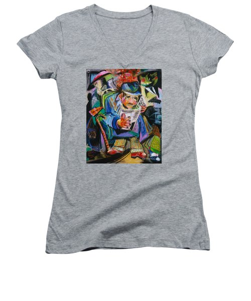 The Reader Women's V-Neck