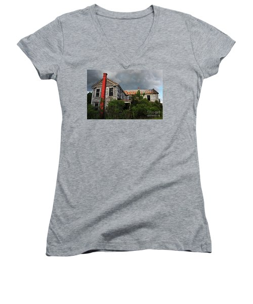 The Red Chimney Women's V-Neck (Athletic Fit)