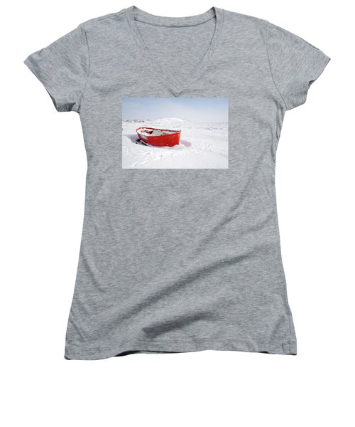 The Red Fishing Boat Women's V-Neck (Athletic Fit)
