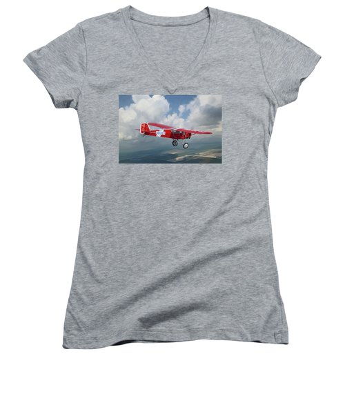 The Red Red Robin Women's V-Neck T-Shirt