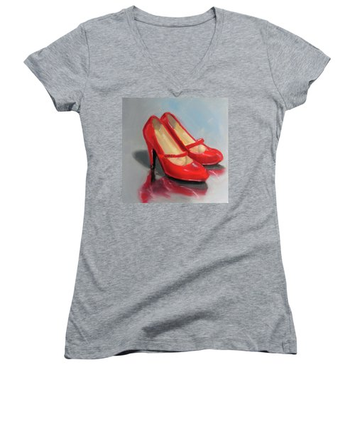 The Red Shoes Women's V-Neck