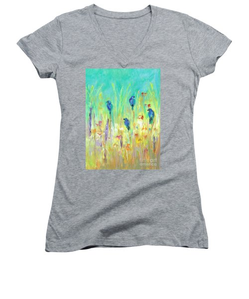 The Resting Place Women's V-Neck T-Shirt (Junior Cut) by Frances Marino