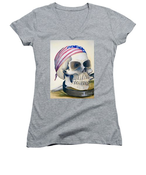 The Rider's Skull Women's V-Neck (Athletic Fit)
