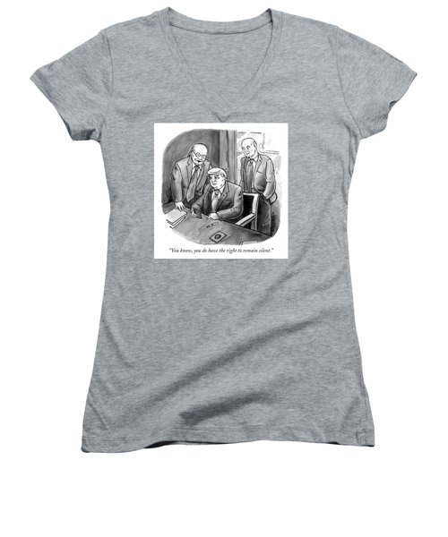 The Right To Remain Silent. Women's V-Neck