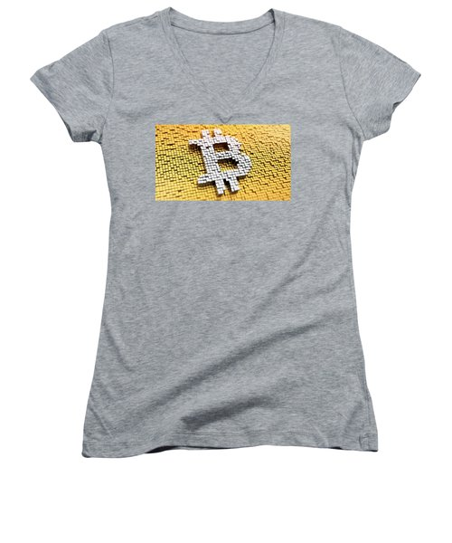 The Rise And Rise Of Bitcoin Women's V-Neck