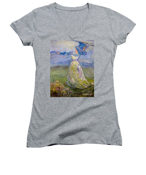 The River Is Here Women's V-Neck