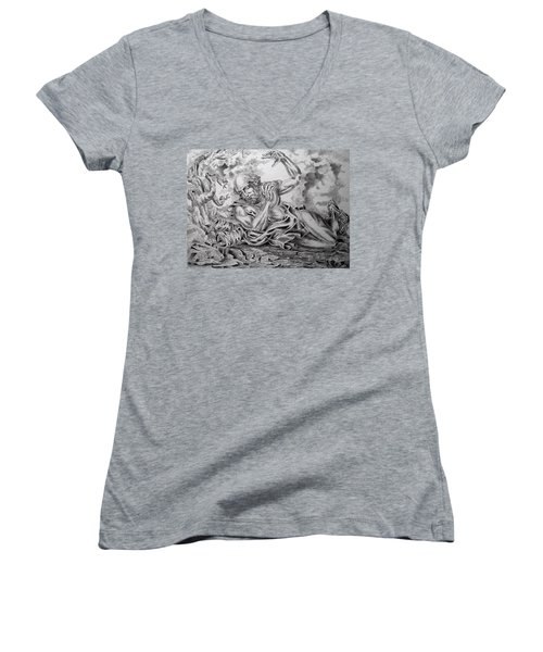 On The Road To Damascus Women's V-Neck T-Shirt