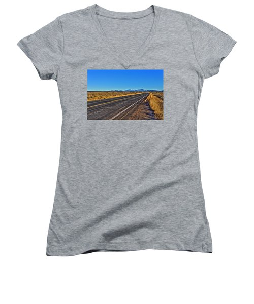 The Road To Flagstaff Women's V-Neck (Athletic Fit)