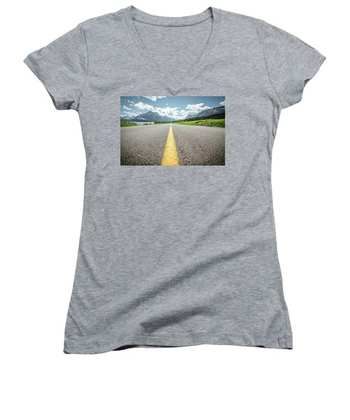 The Road To Glacier Women's V-Neck