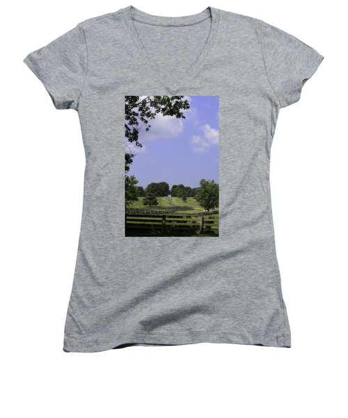 The Road To Lynchburg From Appomattox Virginia Women's V-Neck