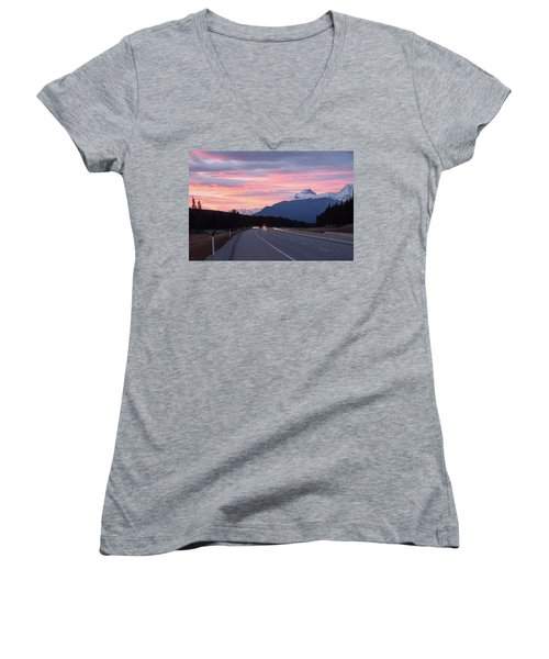The Road Trip Women's V-Neck T-Shirt (Junior Cut) by Keith Boone
