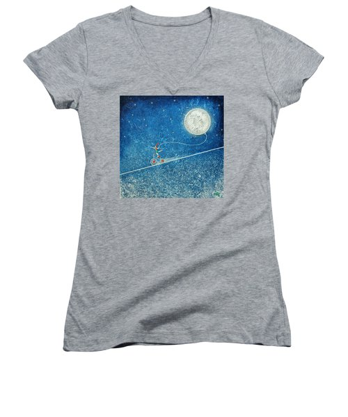 The Robbery Of The Moon Women's V-Neck (Athletic Fit)