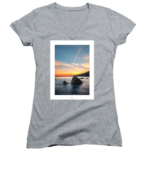 The Rock Women's V-Neck (Athletic Fit)