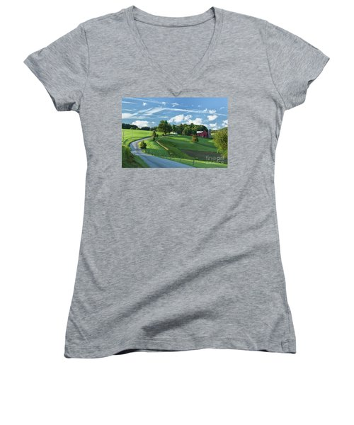The Rudy Farm Women's V-Neck T-Shirt (Junior Cut) by Nicki McManus