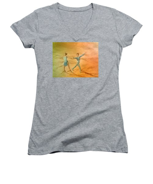 The Rumba Extension Women's V-Neck T-Shirt