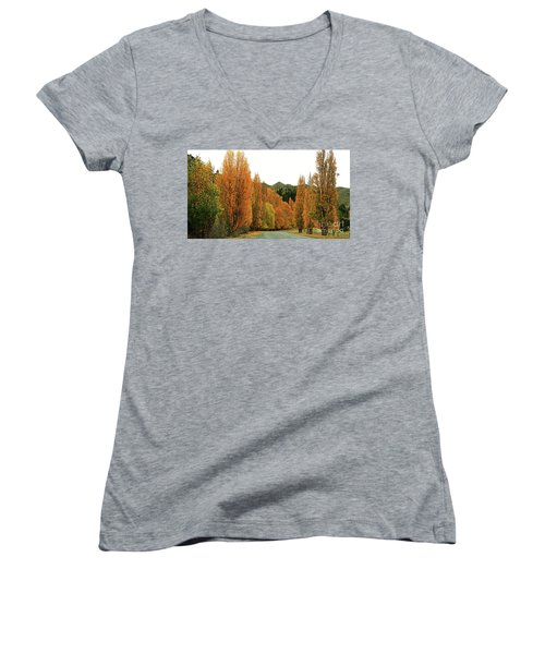 The Russet Tones Of Fall Women's V-Neck