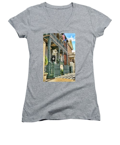 The Rutledge House Women's V-Neck T-Shirt