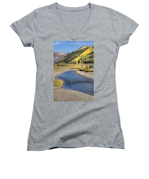 The San Miguel In Autumn Women's V-Neck