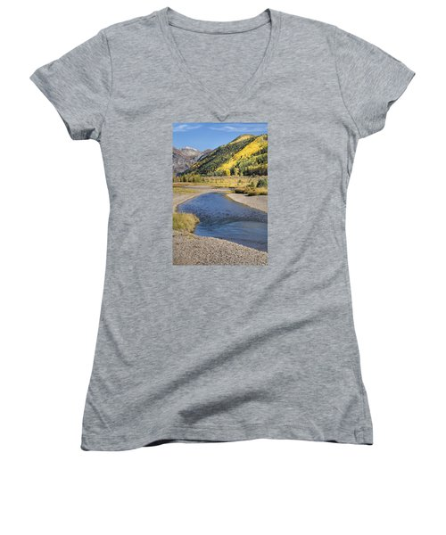 The San Miguel In Autumn Women's V-Neck T-Shirt