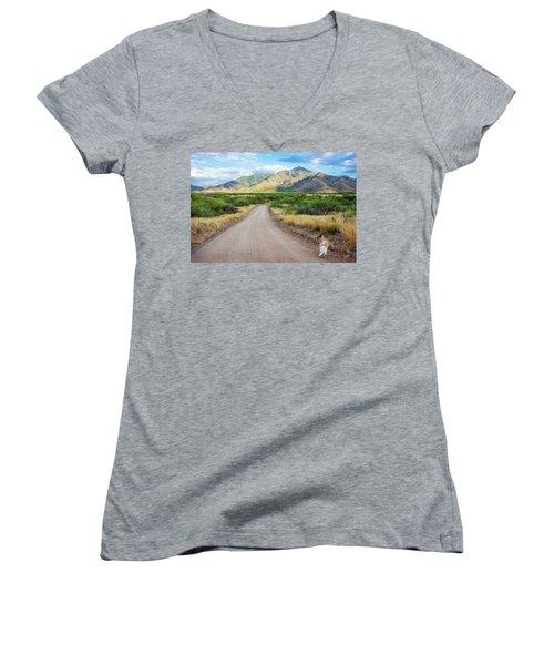 The Santa Ritas Women's V-Neck T-Shirt (Junior Cut)
