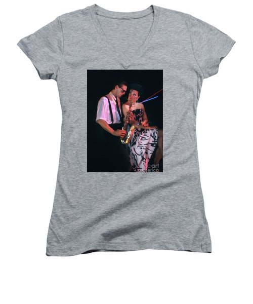 The Sax Man And The Girl Women's V-Neck T-Shirt