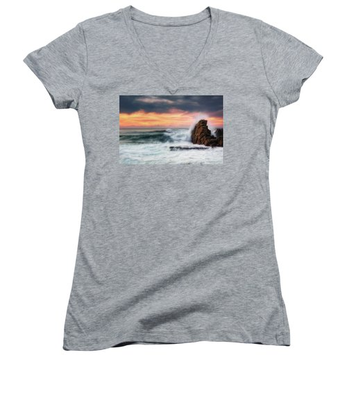 The Sea Against The Rock Women's V-Neck