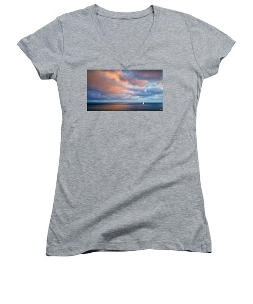 The Sea At Peace Women's V-Neck