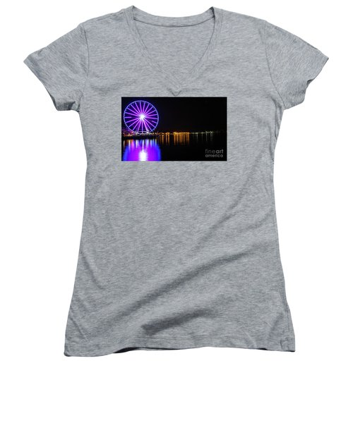 The Seattle Ferris Wheel Women's V-Neck (Athletic Fit)